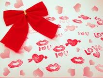 Concept de vacances d'amour de jour du ` s de valentine de carte de voeux Photo stock