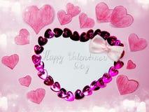 Concept de vacances d'amour de jour du ` s de valentine de carte de voeux Image libre de droits