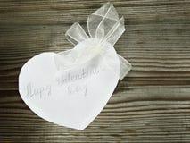 Concept de vacances d'amour de jour du ` s de valentine de carte de voeux Photographie stock