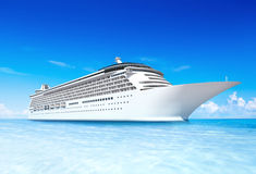 Concept de vacances d'océan de vacances de voyage de bateau de croisière Image libre de droits