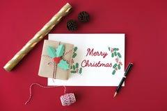 Concept de vacances de célébration de temps de famille de Joyeux Noël Photos libres de droits