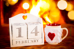 Concept de vacances de jour de valentines Photos stock