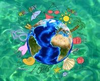 Concept de vacances de vacances d'été Image stock