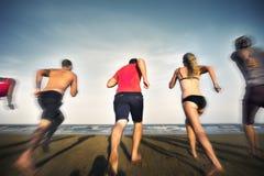 Concept de vacances de vacances d'amitié de plage d'été Photo libre de droits