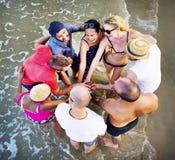 Concept de vacances de vacances d'amitié de plage d'été Image stock