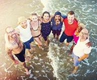 Concept de vacances de vacances d'amitié de plage d'été Photographie stock libre de droits