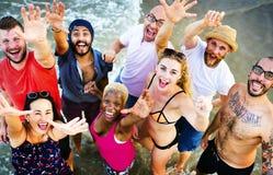 Concept de vacances de vacances d'amitié de plage d'été Photographie stock