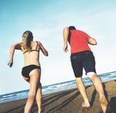 Concept de vacances de vacances d'amitié de plage d'été Image libre de droits