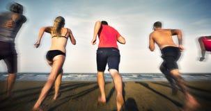 Concept de vacances de vacances d'amitié de plage d'été Photos libres de droits
