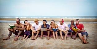 Concept de vacances de vacances d'amitié de plage d'été Images stock