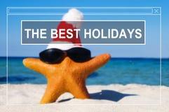 Concept de vacances de vacances d'amitié de plage d'été le meilleur Images stock