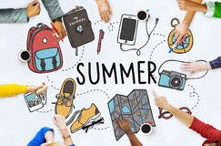 Concept de vacances de vacances de relaxation de voyage d'été image libre de droits