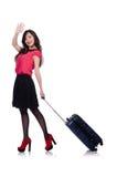 Concept de vacances de voyage avec le bagage Image libre de droits