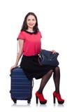Concept de vacances de voyage avec le bagage Images libres de droits