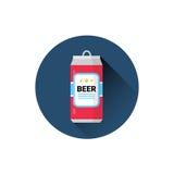 Concept de vacances de festival d'Oktoberfest d'icône de canette de bière illustration de vecteur