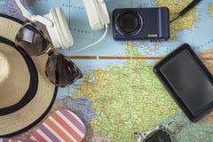 concept de vacances, préparation pour le voyage photo libre de droits
