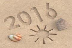 Concept 2016 de vacances rendu 3d Photographie stock