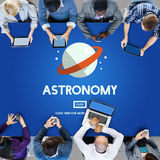 Concept de vaisseau spatial de planète de Big Bang d'astronomie Photos stock