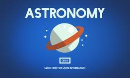 Concept de vaisseau spatial de planète de Big Bang d'astronomie Photos libres de droits