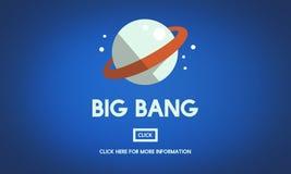 Concept de vaisseau spatial de planète de Big Bang d'astronomie Image libre de droits