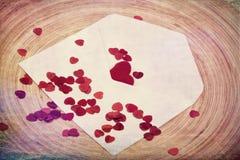 Concept de Valentine avec des coeurs Images libres de droits
