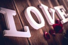 Concept de valentine de vintage avec amour Images stock