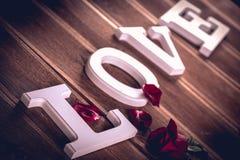 Concept de valentine de vintage avec amour Photos stock