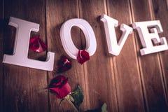 Concept de valentine de vintage avec amour Images libres de droits