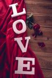 Concept de valentine de vintage avec amour Photo libre de droits