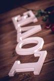 Concept de valentine de vintage avec amour Image stock