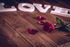 Concept de valentine de vintage avec amour Photos libres de droits