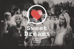 Concept de Valentine Romance Love Heart Dating de rêves doux Photo libre de droits