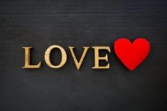 Concept de Valentine sur le fond noir Image stock