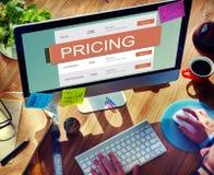 Concept de valeur de promotion des prix de prix du marché photos stock
