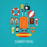 Concept de valise de voyage Image libre de droits