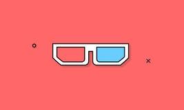 concept de vecteur d'icône en verre 3D Image stock