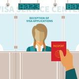 Concept de vecteur de centre de service de visa illustration libre de droits