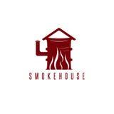 Concept de vecteur de fumoir avec le baril Photographie stock