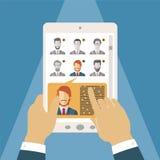 Concept de vecteur de gestion de ressources humaines Photographie stock libre de droits