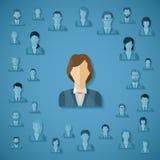 Concept de vecteur de gestion de ressources humaines Images libres de droits