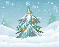 Concept de vecteur de vacances d'hiver dans la conception plate illustration stock