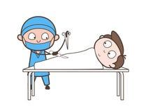 Concept de vecteur de Doing Abdominal Operation de chirurgien de bande dessinée Illustration Stock