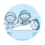 Concept de vecteur de Doing Heart Surgery de chirurgien Photographie stock