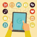 Concept de vecteur - infographics mobile d'APP Photographie stock libre de droits