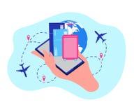 Concept de vecteur de services en ligne de compagnie de ligne aérienne illustration stock