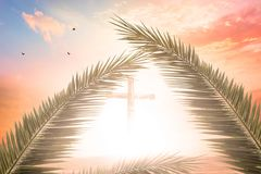Concept de Vendredi Saint : illustration de crucifixion de Jesus Christ sur le Vendredi Saint Images libres de droits