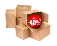 Concept -40% de vente Photographie stock libre de droits