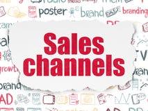 Concept de vente : Canaux de ventes sur le papier déchiré illustration de vecteur