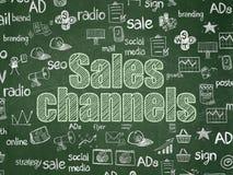 Concept de vente : Canaux de ventes sur le fond de conseil pédagogique illustration libre de droits