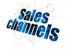Concept de vente : Canaux de ventes sur le fond de Digital illustration de vecteur